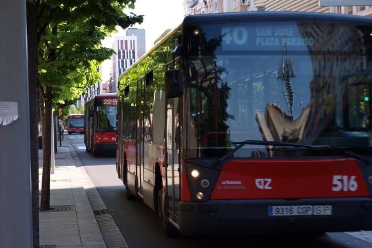 Campaña en autobuses de Zaragoza