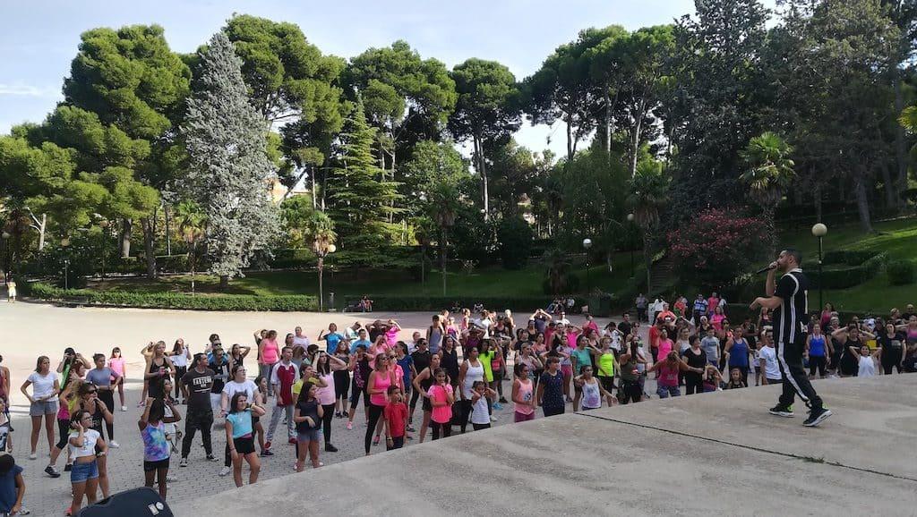 Reto Zumba en el parque Grande de Zaragoza